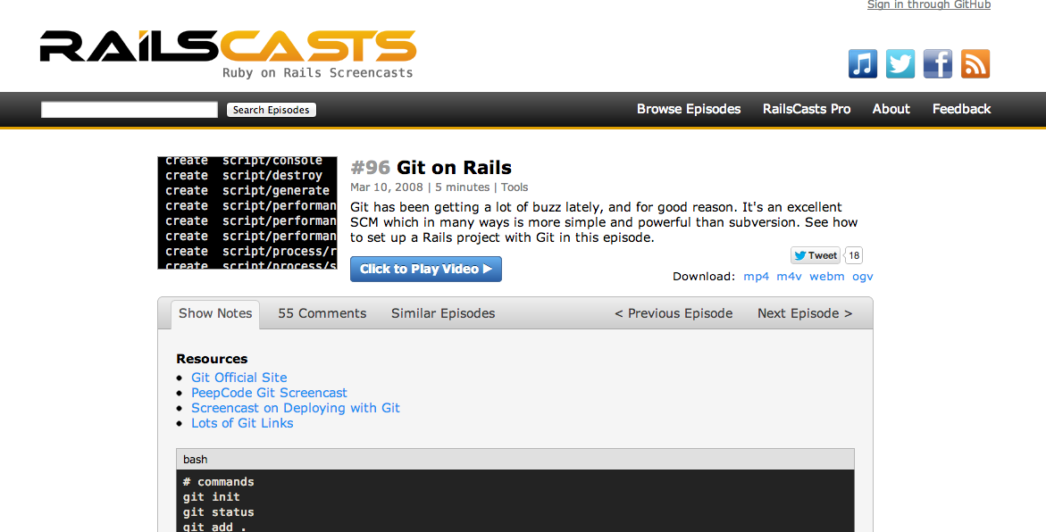 Git on Rails
